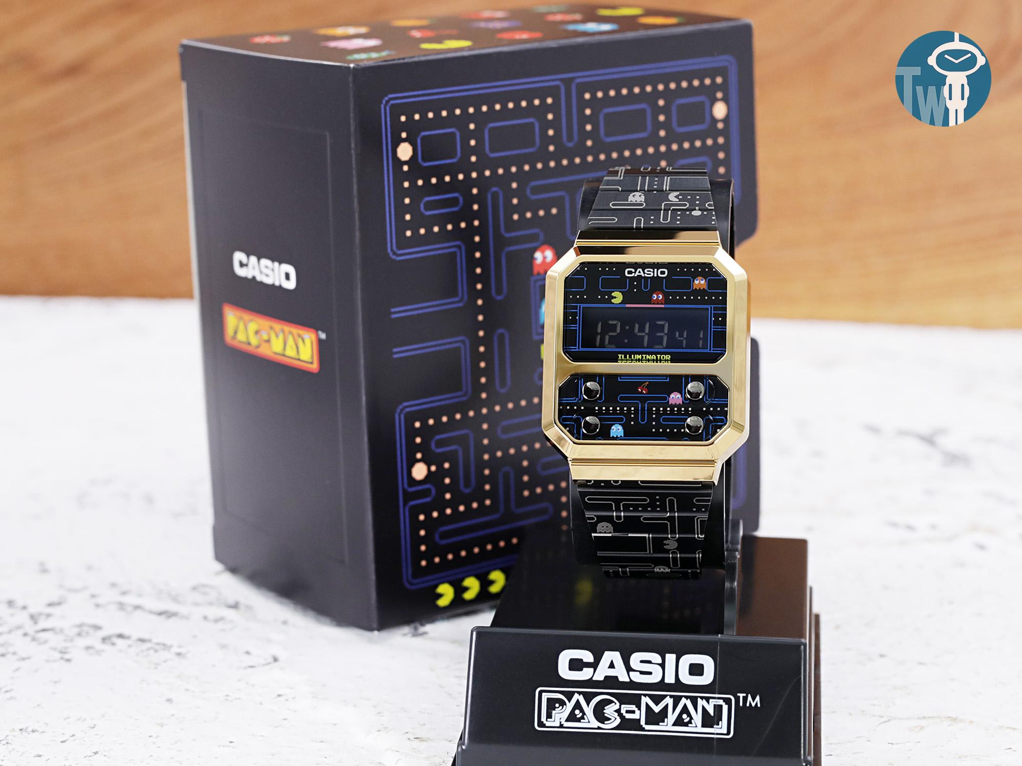 Casio Vintage x PAC-MAN【小精靈】紀念版電子手錶 A100WEPC